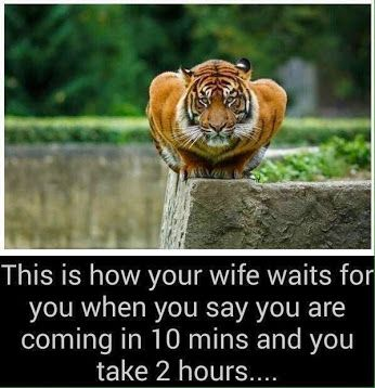 This is how your wife waits for you..