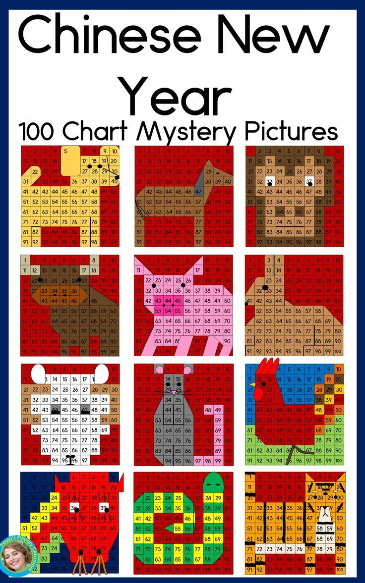 Chinese New Year 2020 Hundreds Chart Mystery Pictures