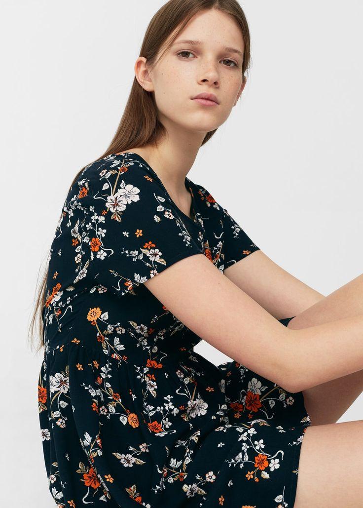 Vestito stampa floreale | MANGO