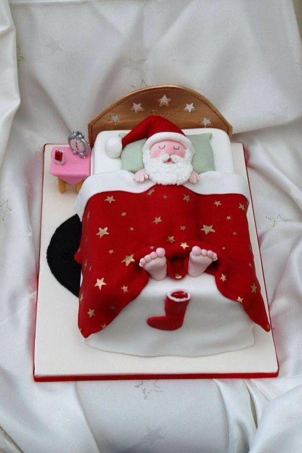 Xmas cake - Santa in bed!