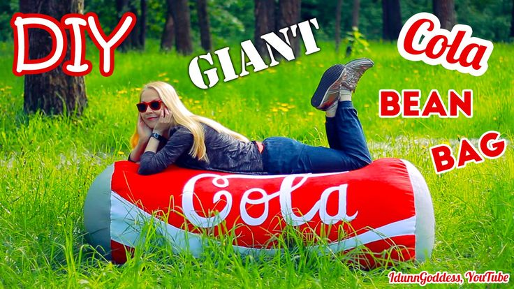 Video tutorial of how to make a bean bag chair shaped like giant Coca-Cola can. I would even call it a couch or a sofa :) You can lay on this type of framele...