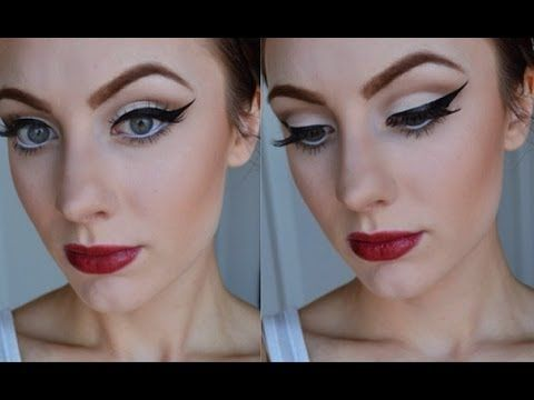 Retro Pin Up Inspired Makeup Tutorial #retro #pinup #halloween