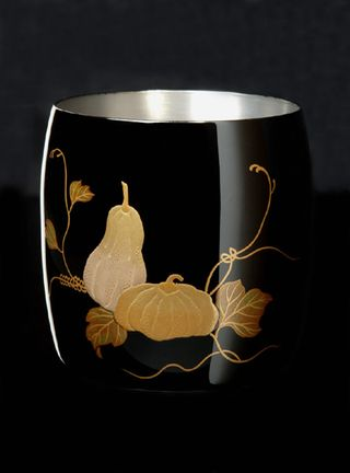 Titanium Japanese Lacquer Cup by Rhus  (Fruits of the Earth) featured on Jzool.com