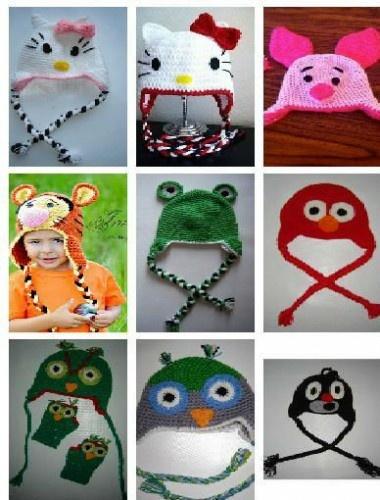 crochet baby funny hats