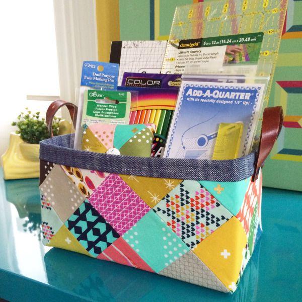 Sturdy Fabric Basket free tutorial | lillyella stitchery