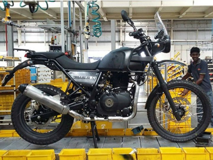 Royal Enfield Himalayan on assembly line