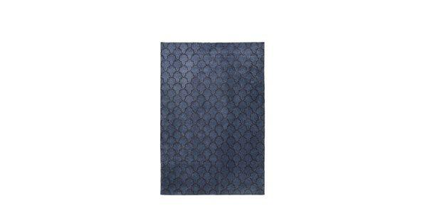 Mahal matta - 180x270 cm, blue melange/dark grey - Tuftade mattor – Möbler från Svenssons i Lammhult