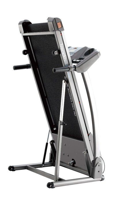 Body Sculpture BT5700 Motorised Treadmill ~~~ # 3.0HP peak output DC Motor # 0.8 – 16kph Speed # 18 programmes: 1 manual setting, 15 pre set programmes and 2 user settings # 120cm x 40cm (LxW) Running Area # Transport wheels for easy movement # Folds for easy storage # Weight: 73kg # 1 year manufacturer warranty #Treadmill #Cardio #BodySculpture #HomeGym