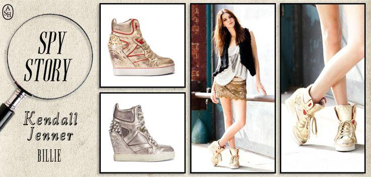 La modella #KendallJenner sfoggia le #sneakers #Billie di #Ashitalia in un perfetto #look da #città!