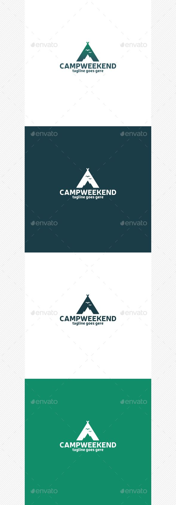 Camp Weekend Logo — Photoshop PSD #trip #vector • Available here → https://graphicriver.net/item/camp-weekend-logo/14483905?ref=pxcr