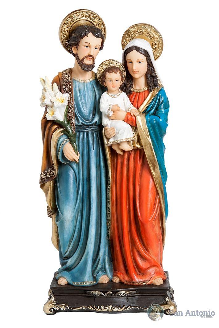 La Sagrada Familia: Jesús, José y maría.