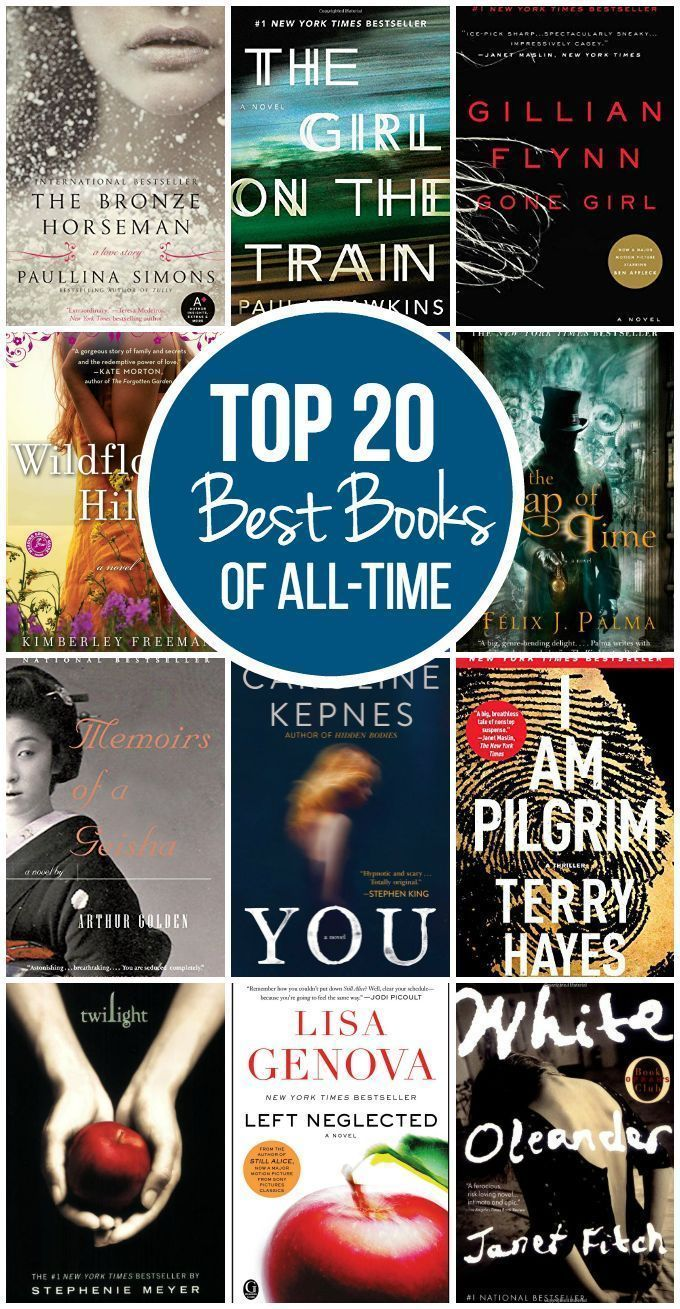 Top 20 Best Books of All-Time - I could not put any of these books down!  Add to your must-read list. #books #bestbooks #reading #bookstoread