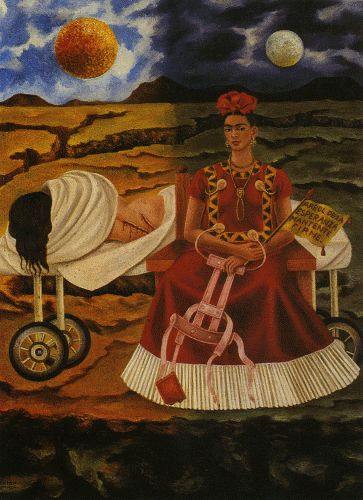 Frida Khalo, she sufferd her whole life with physical pain !!