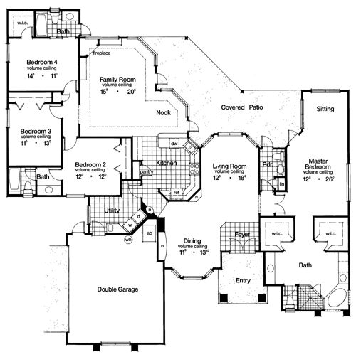 Contemporary Florida Mediterranean House Plan 63312