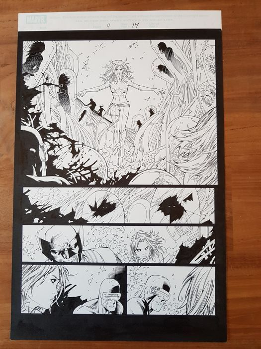 Catawiki online auction house: Original Art Page by Tyler Kirkham And Sal Regia - X-Men: Phoenix - Warsong #4 - Page 14 - Marvel Comic - (2007)