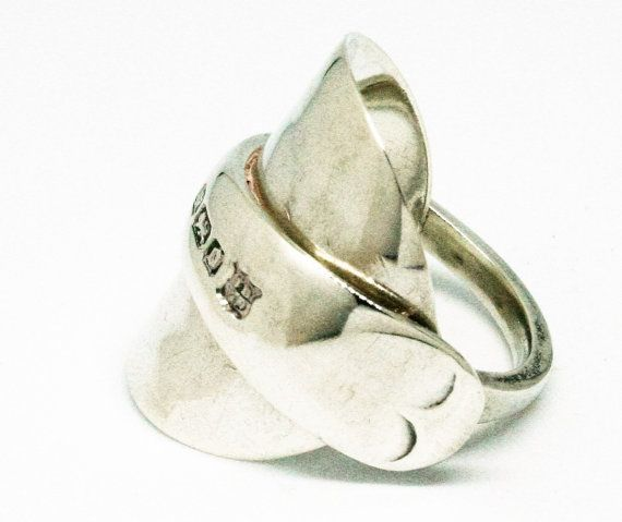 Spoon ring. Sterling silver dated 1906