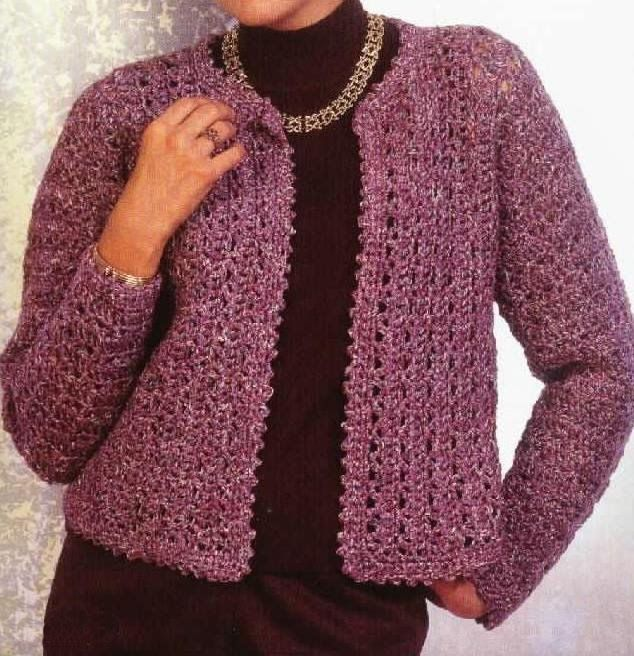 Free Knitting Patterns: Womens Jacket (Crochet)