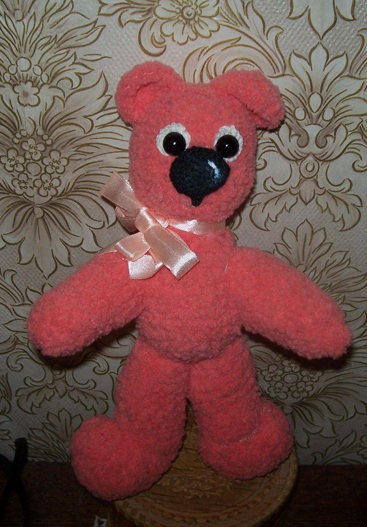 Как сделать розового мишку для ребенка своими руками