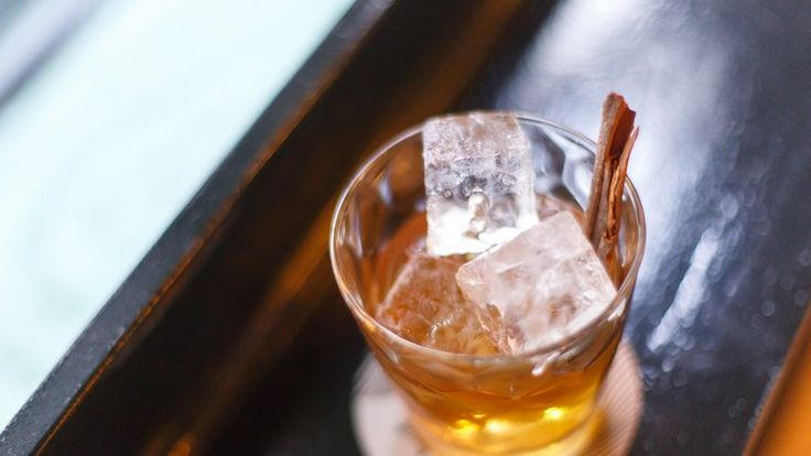 El Bigote Recipe | Bon Appetit- mezcal and bourbon with cinnamon