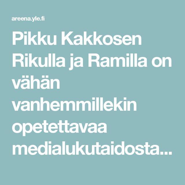 Pikku Kakkosen Rikulla ja Ramilla on vähän vanhemmillekin opetettavaa medialukutaidosta. | Kioski trending | TV | Areena | yle.fi