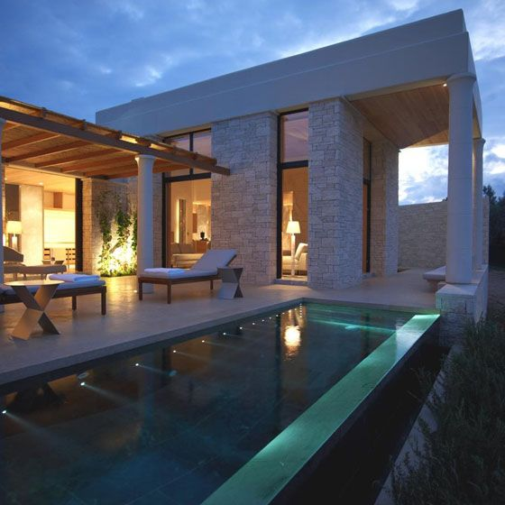Exquisitely designed villas serviced by the on-site Aman Hotel which is due to open in September ~ WHO IS the Architect/Designer?