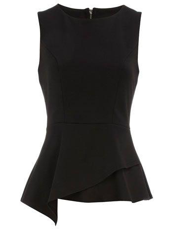 A formal top is so fun! Black peplum top, Dorothy Perkins, $39