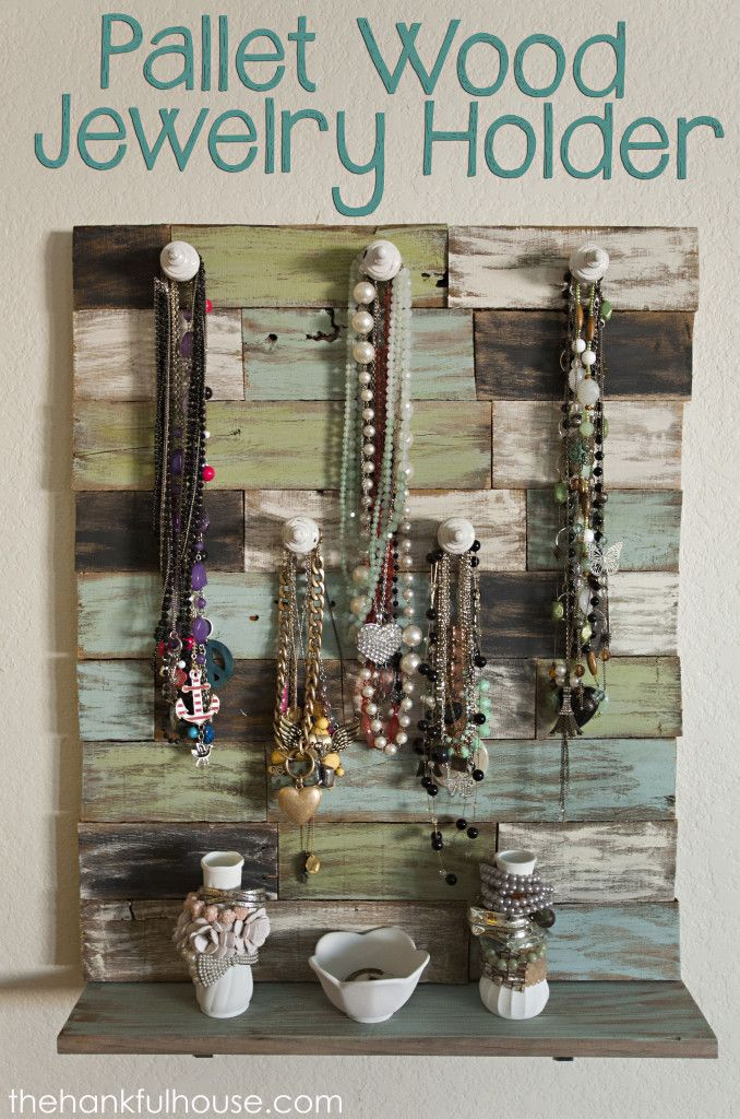 Pallet Wood Jewelry Holder - The Hankful House