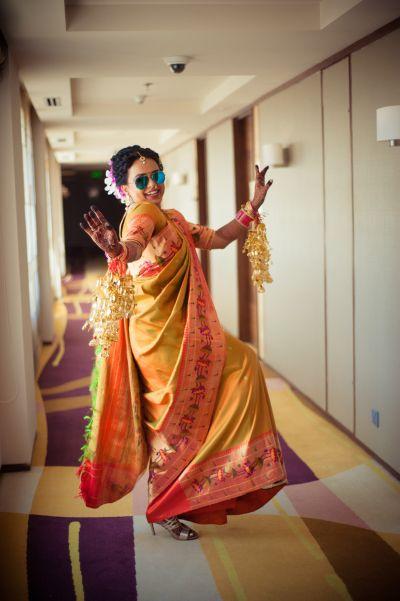 South Indian Bride - Beautiful South Indian Bride in a Kanjivaram Saree and Kaleere | WedMeGood#wedmegood #indianbride #indianwedding #kanjivaramsaree #southindianbride #southindian #saree