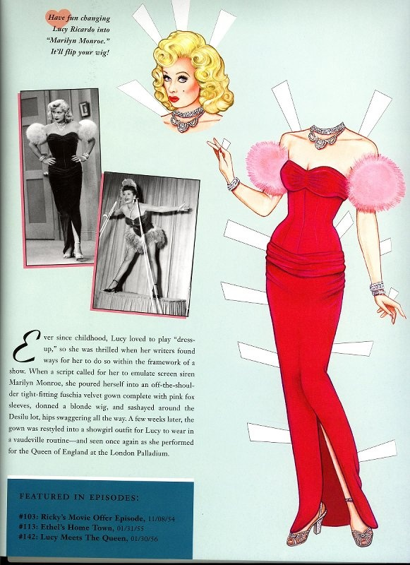 """I Love Lucy"" paper dolls"