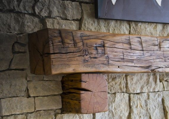 Antique Reclaimed 4side Hand Hewn Barn Beam By