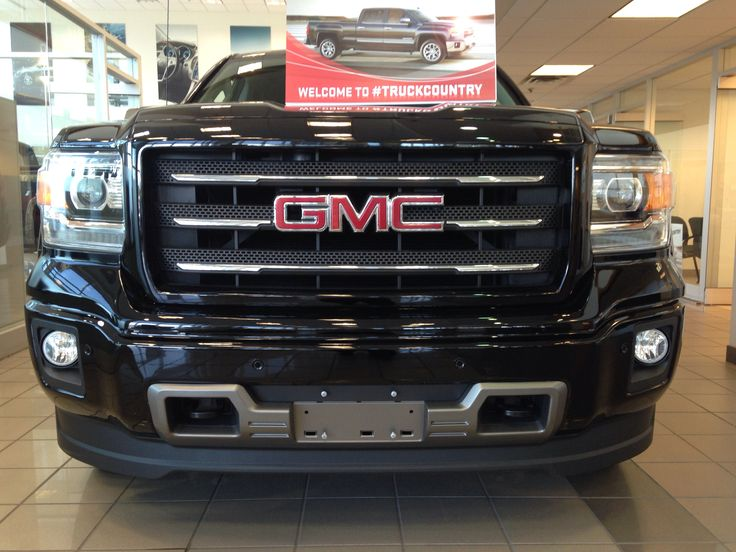 Front Grill all terrain Package on 2014 GMC Sierra black ...