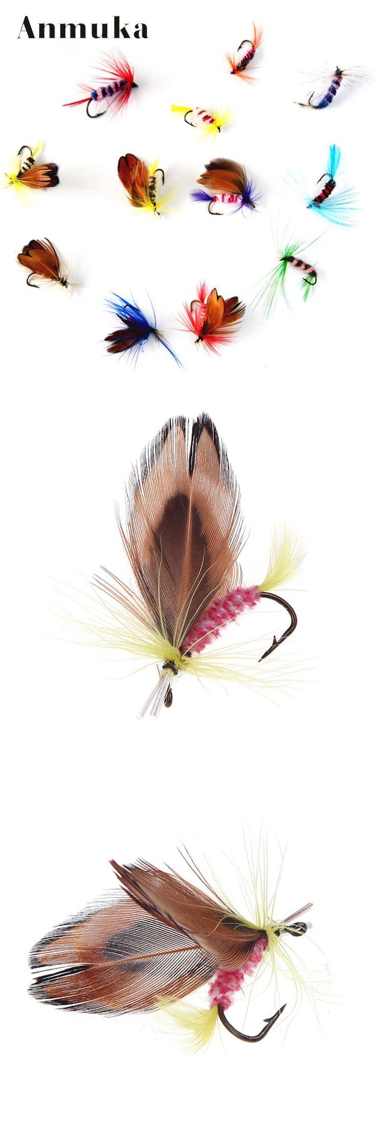 [Visit to Buy] Anmuka 12pcs/set Various Dry Fly Fishing Trout Salmon Dry Flies Fish Hook Lures fishing fishing pesca #Advertisement