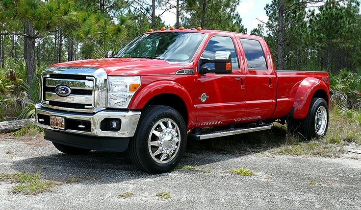 2012 FORD F350 Dual Rear Wheel not a F150 yet red and a