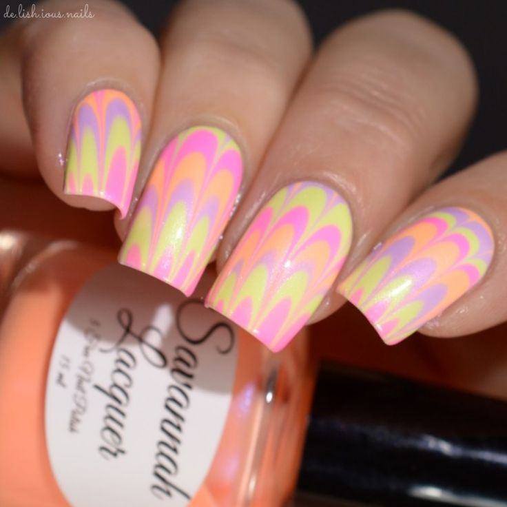 46 best Water Marble Nail Art images on Pinterest | Water marble ...