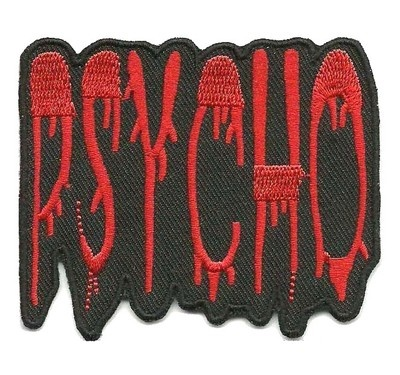 PSYCHO★PSYCHOBILLY                      PUNK ★ROCK Embroided Iron on Patches