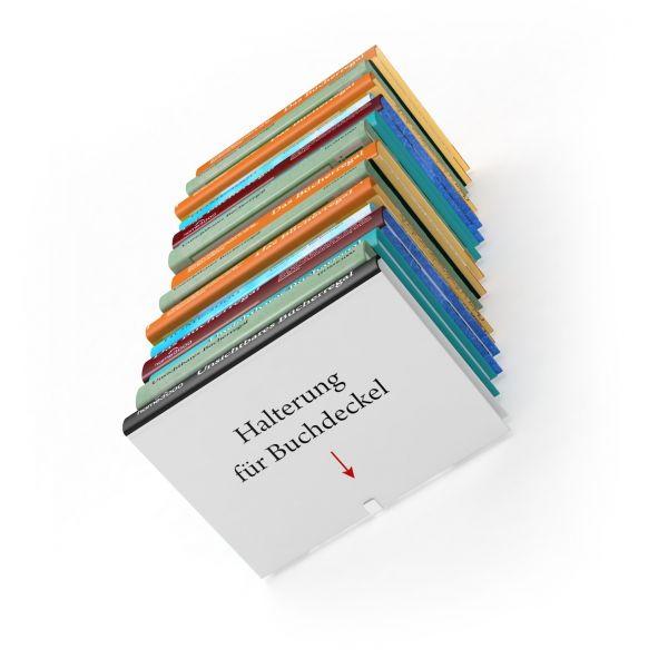 Unsichtbares Bücherregal im 4er Set L-Regal auch für Taschenbücher