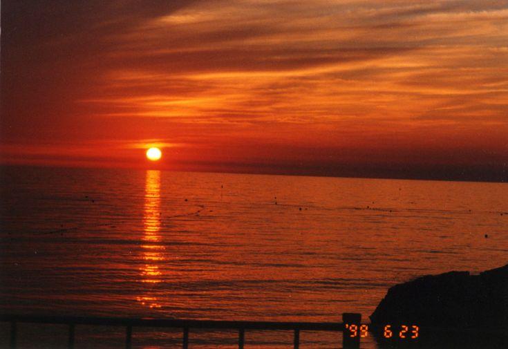 留萌:黄金岬の夕日