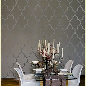 Home Decor Wall Stencils - modern - dining room - new york - by Janna Makaeva/Cutting Edge Stencils