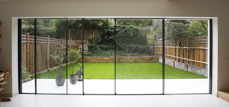 25 best ideas about folding sliding doors on pinterest for Large folding patio doors