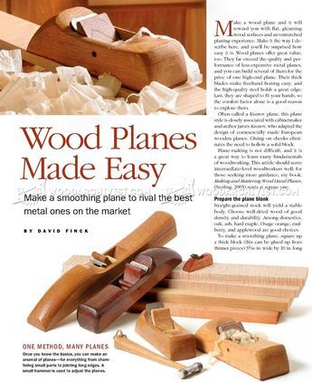 DIY Hand Plane - Woodworking Hand Tools