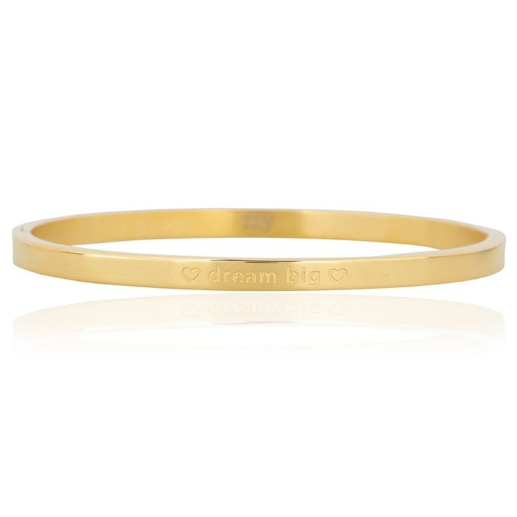 Quote bangle gold - Dream big | #bracelet  #quotes #dreambig #gold #myjewellery #stainlesssteel