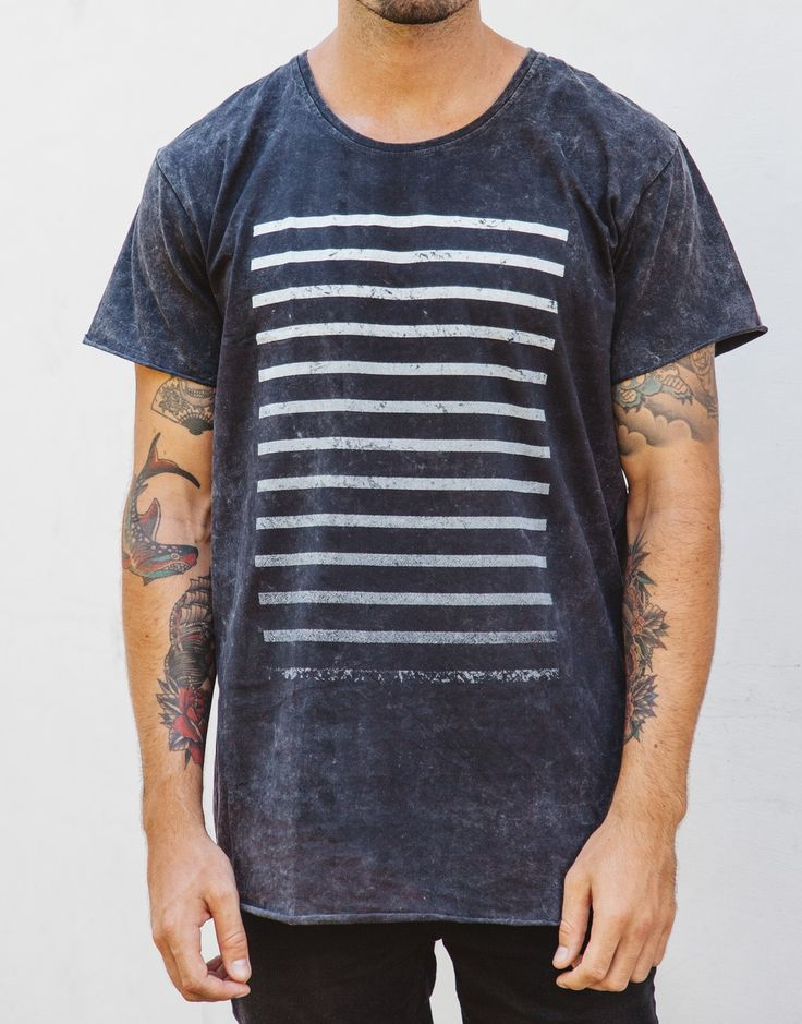 Naken Fader Tee Black Wash