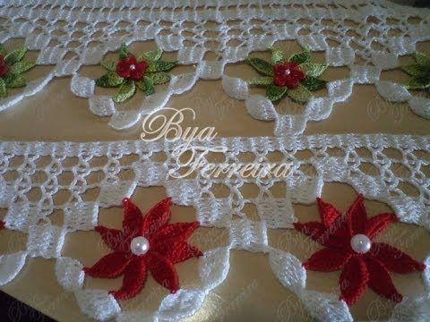 Passo a passo Porta pano de prato de crochê Flor Bailarina por JNY Crochê - YouTube