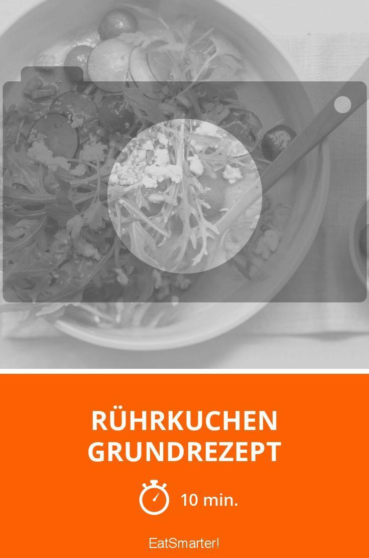Rührkuchen Grundrezept