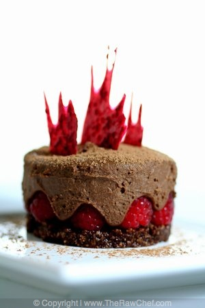 Chocolate Raspberry Cake with Ginger Chocolate Mousse - I CAN EAT AS MUCH AS I WANT!!