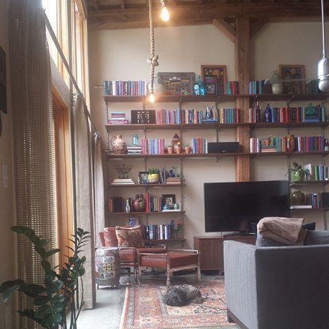 Loft Living, Downtown Durham, Trinity Lofts, Modern, Contemporary,  Bohemian, Kravet, Cisco Brothers, Elfa, ...