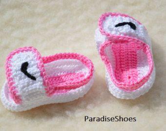 Nike Air Jordan 1 Crochet Baby Booties by ParadiseShoes on Etsy