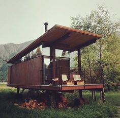 Shipping container. Smart designs live at Risingbarn.com. #small #shipping #container #home #architecture #sleek #offgrid #economic #simple #design