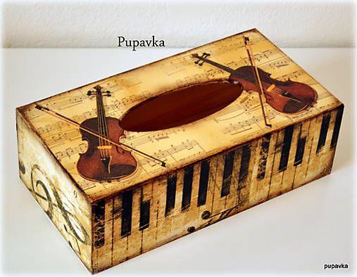 box na vreckovky z masívneho dreva, plní sa zopodu Veľkosť: 26x14x8 cm...