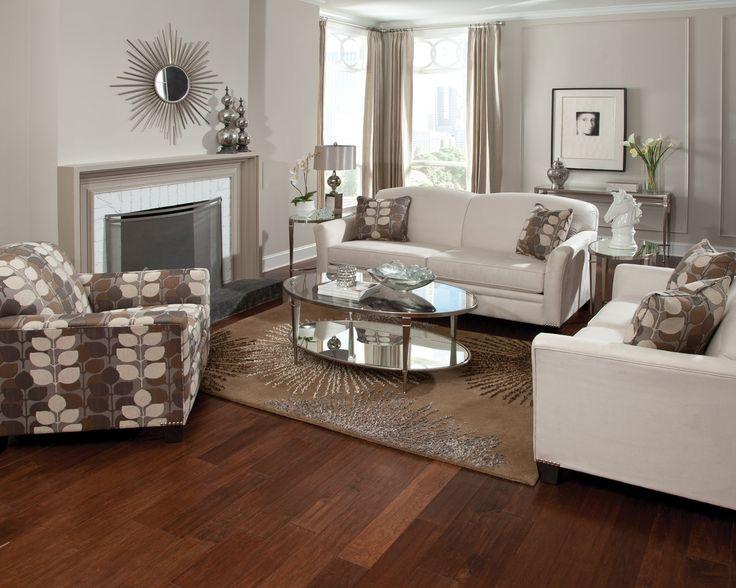 England Furniture 5030N With Unisuede Chamois And Renwick Sahara Fabrics
